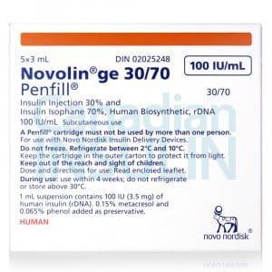 Novolin ge 30 70 penfill cartridge