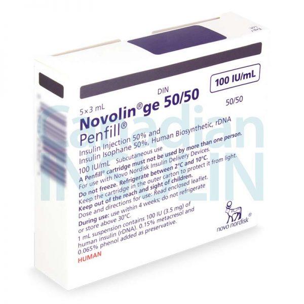 Novolin ge 50 50 penfill cartridge