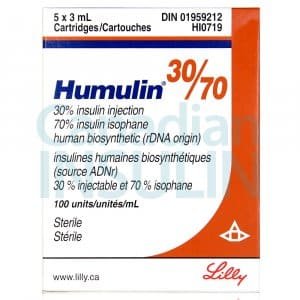 humulin 30/70 cartridges
