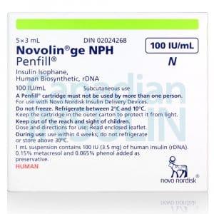 novolin ge nph penfill cartridge